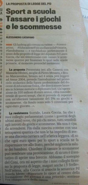 """#crescoattivo anche """"La gazzetta dello sport"""" neparla!"""